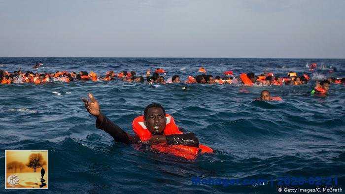مأساة جديدة في المتوسط ـ غرق أكثر من مائة مهاجر قبالة ليبيا
