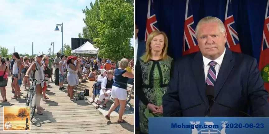 فورد مصدوم من الحشود الكبيرة في شواطئ تورنتو وشبهها بشواطئ فلوريدا
